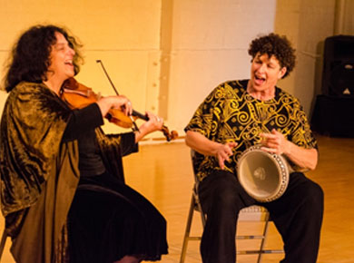 Shira Kammen and I at Berkeley Moving Arts 10/12 - Photo by Susan Freundlich