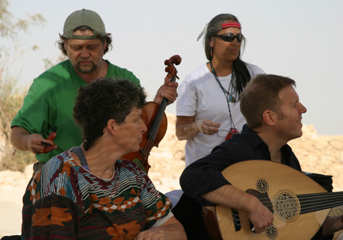 Debbie Fier-Music and Ritual at the Masada, overlooking the Dead Sea